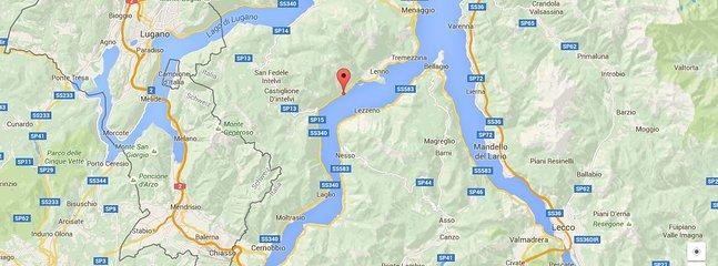 Posizione sul Lago di Como