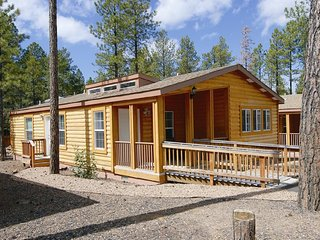 2 BDRM LOG CABIN~ PVC AT THE ROUNDHOUSE RESORT~ INDOOR POOL & HOT TUB~ AND MORE