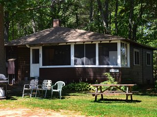 Quiet, Lakes Region Cottage, Beach, Boats, Yard -'Brown Camp'- Crystal Acres LLC