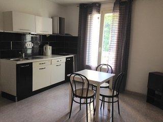 Joli Appartement de 2 pieces 'NOIR et BLANC' a Beziers, et 15 Kms des plages