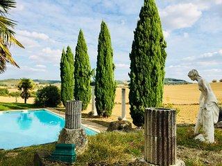 AUCH - Domaine de Daries - (piscine 16m/maison de maître/parc) calme absolu