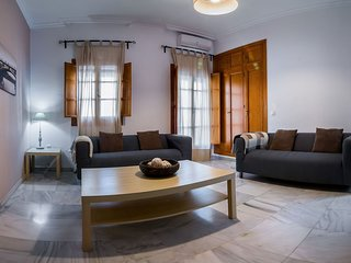 Spacious Pureza apartment in Triana with WiFi, air conditioning & private terrac