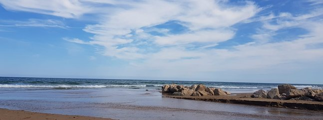 Riuet, playa enfrente del apartamento.