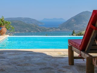 New Private secluded Villa-Superb location with breathtaking Ionian Sea view