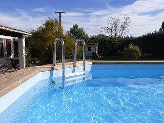 Villa 6 pers. 120m2  piscine, pr.priv 1000m2. L'Aude entre mer et montagne