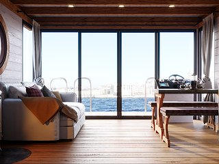 Houseboat Finland: Houseboat Eco-Wood 36 m2/ 6 pers.