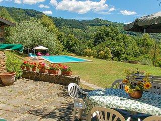 House with 12x6 private pool, own garden at 2,8km from Castiglione di Garfagnana