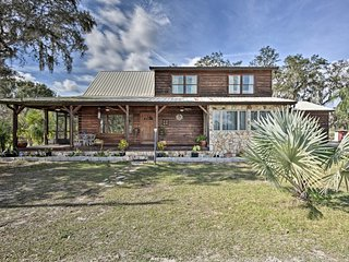 NEW! Sebring 'Ranchero Log Cabin' on 40-Acre Farm!