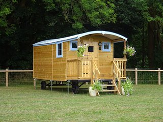 Bluebell Shepherd Hut - Castle Farm Holidays Shropshire