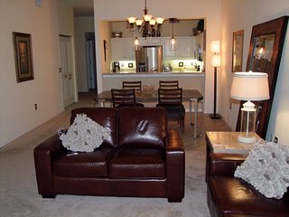 Top floor unit with partial views of Charlotte Harbor.