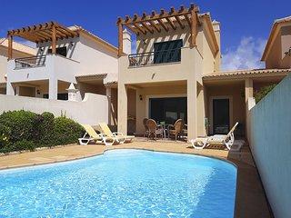 DomusIberica Villa 2. Burgau. A/C, private pool and Burgau Club Canopied pool.