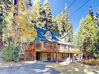 Old Tahoe Home w/ Hot Tub & Guest Suite - Private 800' Beach w/ 2 Piers
