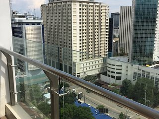 11floor studio with swimming pool and fantastic view outside the balcony