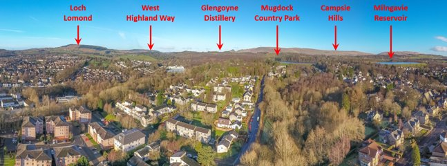 Milngavie sits on the edge of beautiful countryside with access to so many beauty spots
