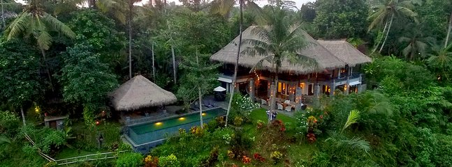 Alami Villa is a 4,000sqft property located 2.5mi from downtown Ubud.