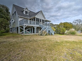 NEW! Waterfront Murrells Inlet Home w/Pond & Dock!