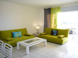 Tunui apartment - Tahiti - Punaauia- 4 bedrooms - pool & sea view - 8 pers