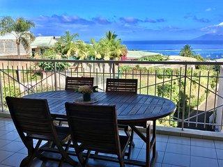 Turoa apartment  - Punaauia - Tahiti - pool and amazing sea view - 5 pers
