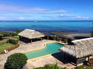Tiapa apartment - Paea - Tahiti - 5 pers - beachfront - pool and jacuzzi