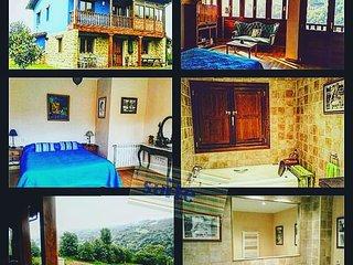Alquiler casa de aldea  La Xana Azul .Con Vistas.