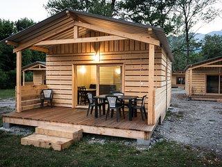 Chalet cosy et équipé | Terrasse avec vue sur le Mont Blanc