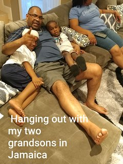 On vacation with my grandson's in Jamaica