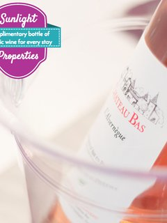Complimentary bottle of wine for every stay