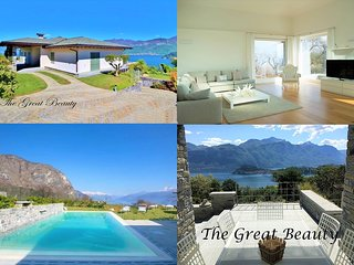 The Great Beauty, spectacular view on the lake, luxurious property with pool