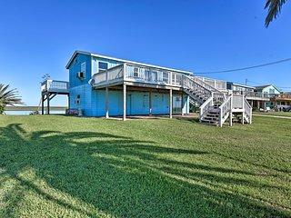 NEW! Oceanfront Sargent Beach Home w/ Dock!