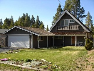 Such a Cute Cabin Near the Tahoe Keys! Beautiful Backyard that Backs to a Meadow