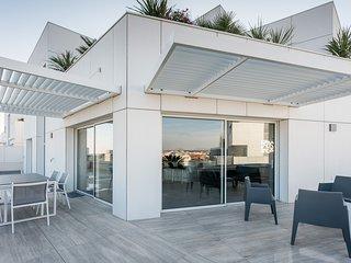 Splendide T4 duplex sur les toits avec vue imprenable
