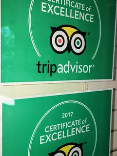 Trip Advisor Certificate of Excellence 2017 and 2018