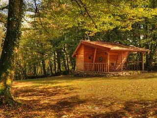 Cabane insolite avec spa privatif