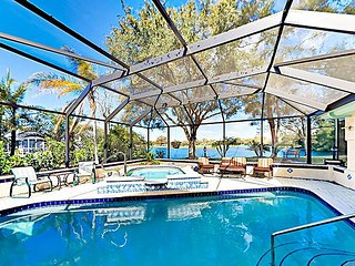 Lakeside Home on Huge Nature-filled Lot w/ Caged Private Pool & Hot Tub