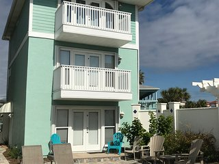 NEWLY REMODELED! Beach house rental and pool with spectacular view of Gulf.