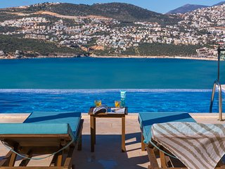 Holiday Villa Kisla Kalkan, heated infinity pool, 5 bedroom, panoramic views