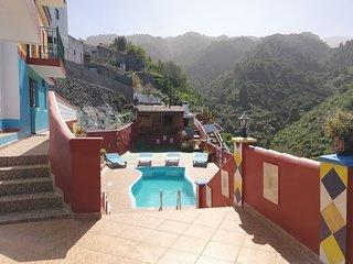 Villa Galicia, piscina y vistas. Ideal eventos y grupos. La Palma,Islas Canarias