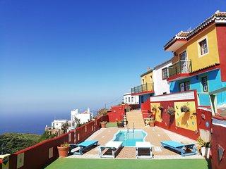 Tkasita Galicia 1. Piscina, Vistas al Mar y Montañas. La Palma, Islas Canarias
