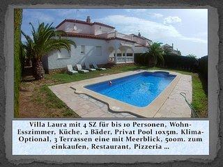 Villa Esmeralda für bis 10 Personen, privat Pool 10x5m., Klimaanlage