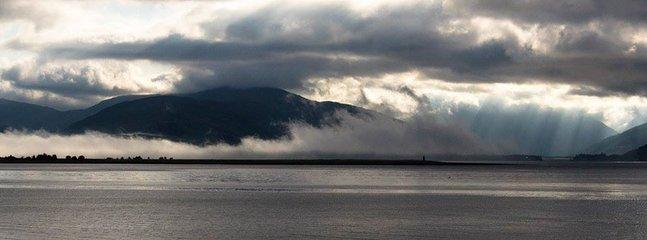The beautiful views across Loch Linnhe towards Glencoe.