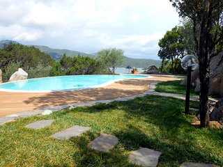Portobello di Gallura Villa Sleeps 8 with Pool Air Con and WiFi - 5763294