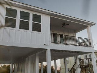 NEW LISTING! Brand new beach home w/ furnished balconies- walk to water!
