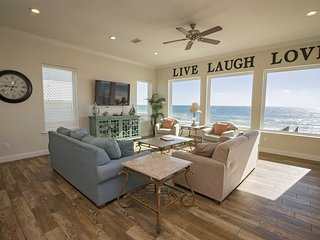 Spring Into A Vacation ~ 6 BR,6 bath ~ Gulf Front ~ Sleeps 17 ~ All Tile ~ Pier