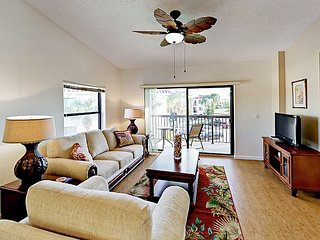 Top-Floor Condo in Gated Complex with Private Balcony - Steps to Pool & Beach