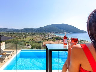 Brand new villa with private pool and sea views perfect for a family in Lefkada