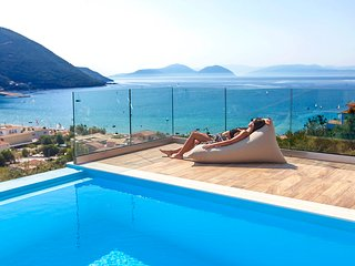 Brand new villa with private pool and sea views perfect for a family in Vasiliki