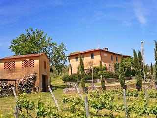 Feriale I, Petrolo winery. Quiet countryside, garden, swimming-pool, wi-fi.