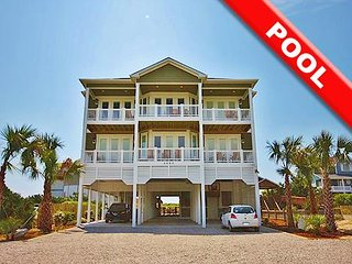 Southern Grace - 16BR Oceanfront House in North Topsail Beach with Heated Pool -