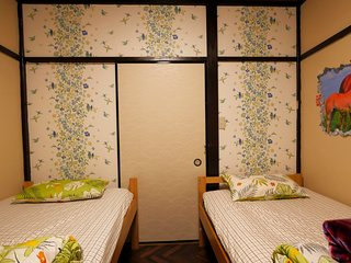 HAKONE Private Economy Twin Shared Bath 1 mit Venetian Glass Museum Bus Stop B&B
