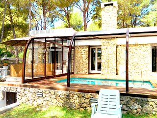Hermosa Villa en Santa Ponsa para 6 Personas, Piscina, Jardín, cerca de la Playa